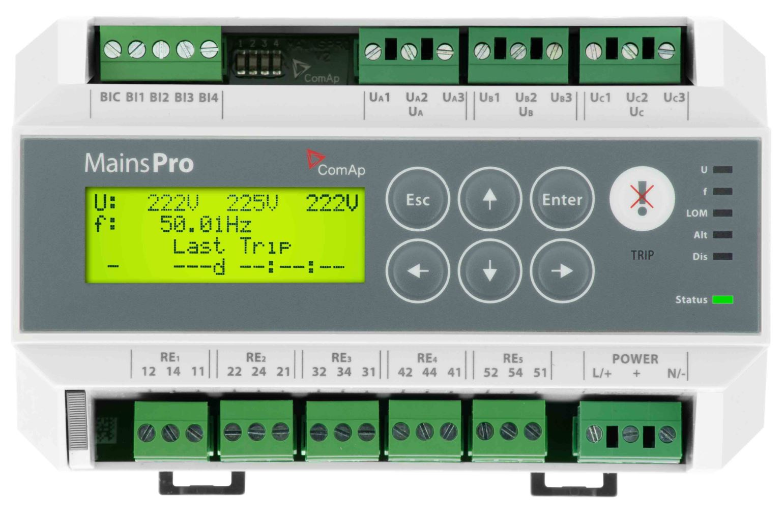 Abb Cm Ufdm33 Solar Protection Relay Bcj Controls Under Current Comap Mainspro